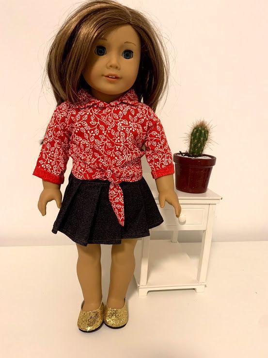 Blusa para American Girl ou Our Generation (0025)