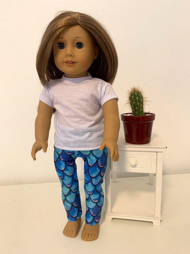 Calça Legging para American Girl ou Our Generation (0003)