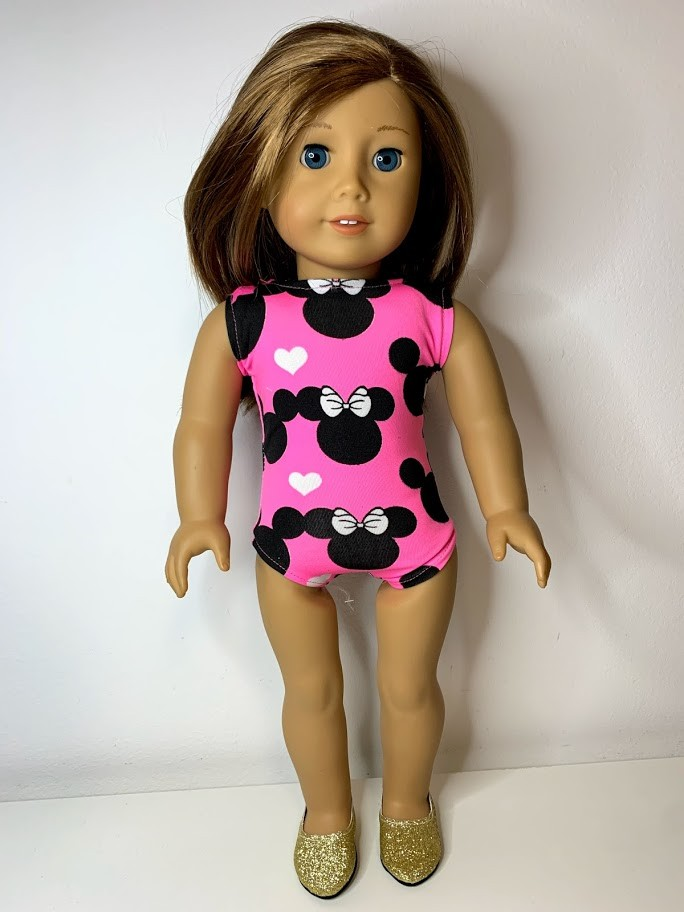 Maiô Minnie para American Girl ou Our Generation