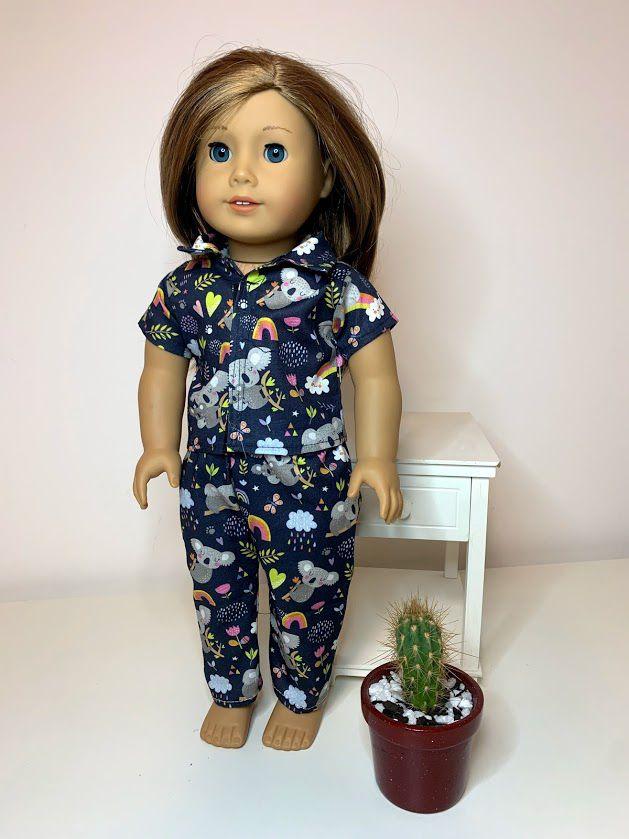 Pijama para American Girl ou Our Generation (0016)