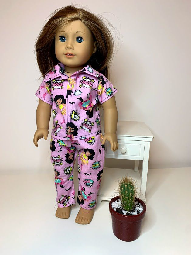 Pijama para American Girl ou Our Generation (0019)