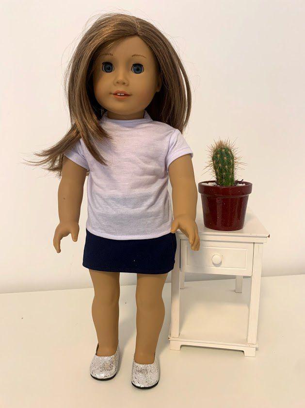 Short Saia para American Girl ou Our Generation (0001)
