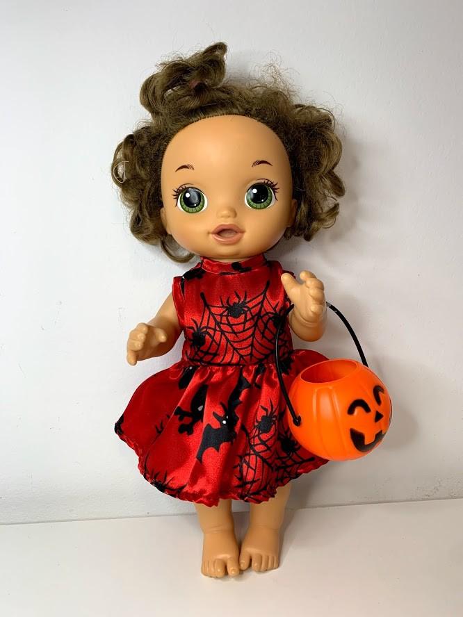 Vestido Halloween para Baby Alive (0003)
