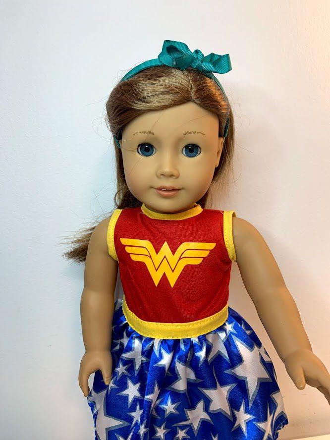 Vestido Mulher Maravilha para American Girl ou Our Generation