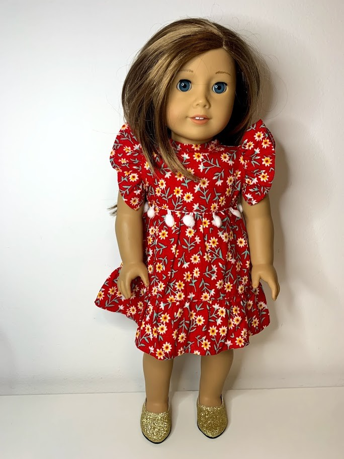 Vestido Natal para American Girl ou Our Generation (0007)