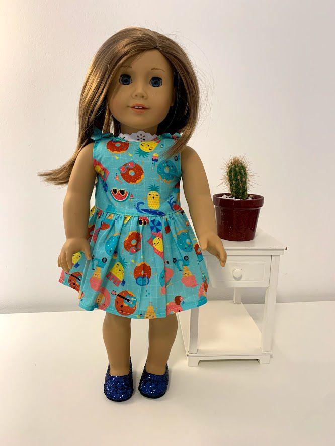 Vestido para American Girl ou Our Generation (0064)