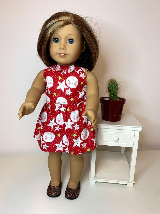 Vestido para American Girl ou Our Generation (0087)