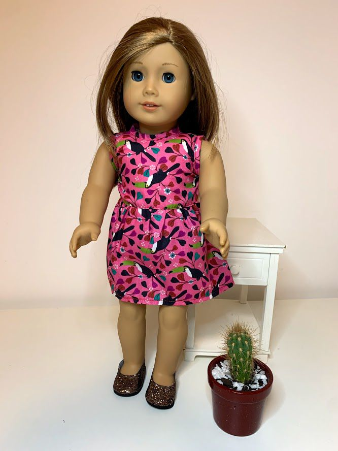 Vestido para American Girl ou Our Generation (0088)