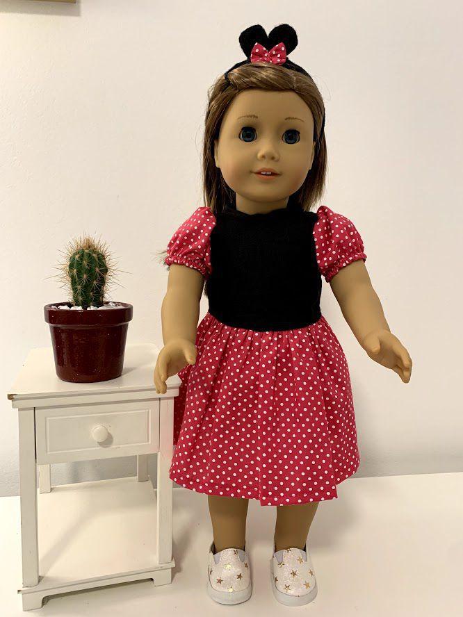 Vestido para American Girl ou Our Generation (0032)
