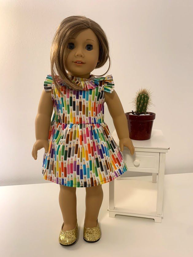 Vestido para American Girl ou Our Generation (0029)