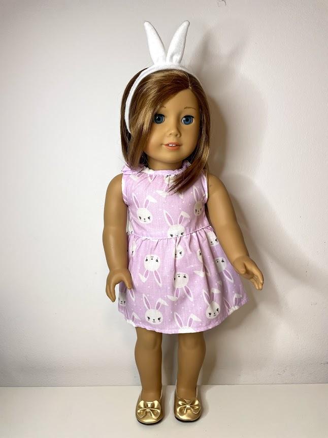 Vestido para American Girl ou Our Generation Páscoa (0001)