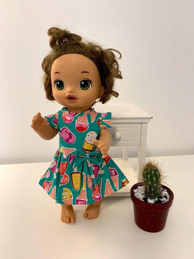 Vestido para Baby Alive (0045)