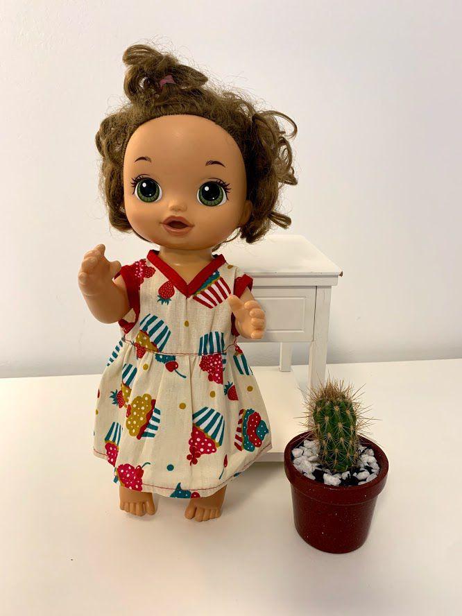 Vestido para Baby Alive (0046)