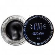 Delineador em Gel Cat esfumável Ultra preto Longa duração 3g - Dailus