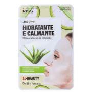 Máscara Facial de Algodão Aloe Vera, Calmante e Hidratante 1 unid - Kiss NY
