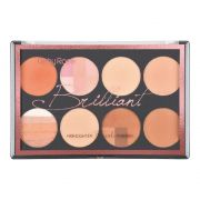 Paleta Brilliant - Blush, Iluminador, Pó, Contorno  Ruby Rose
