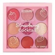 Paleta de Sombras 9 cores Coleção Tropical - Strawberry Cocktail- SP Colors