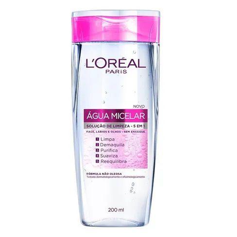 Água Micelar Solução de Limpeza Facial 5 em 1- Demaquilante - 200ml L'Oréal Paris