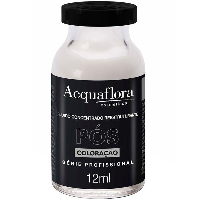 Ampola de Tratamento Fluído Concentrado Reestruturante Pós-Coloração 12ml-Acquaflora