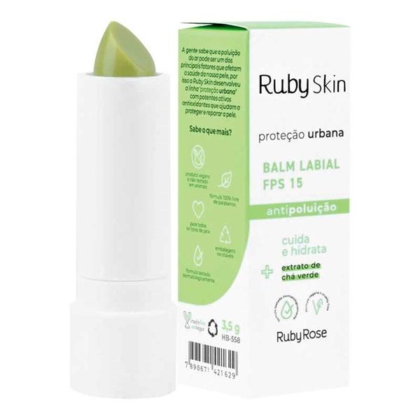 Balm Labial Fps 15 antipoluição - Ruby Skin
