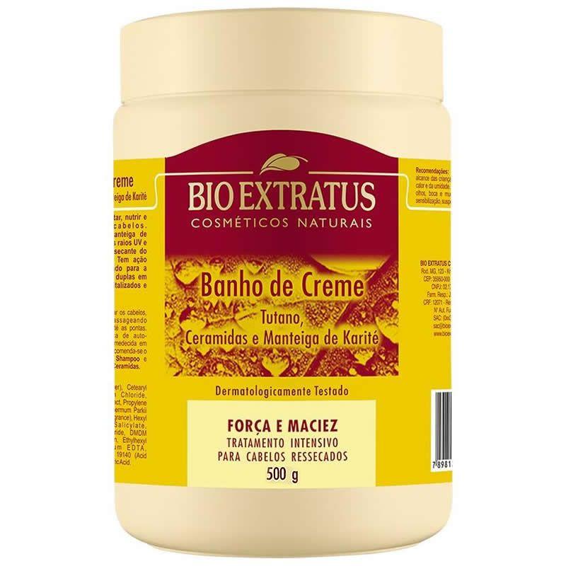 Banho de Creme Tutano e Ceramidas - 500g -Bio Extratus