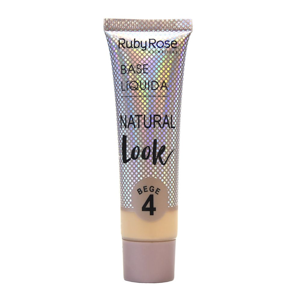 Base Líquida Natural Look Bege 4-29ml -Ruby Rose