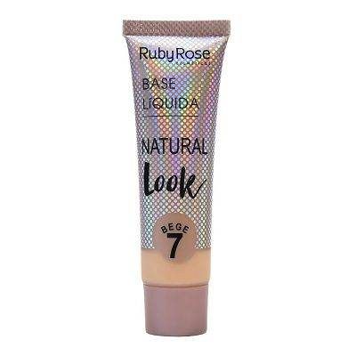 Base Líquida Natural Look Bege 7-29ml -Ruby Rose