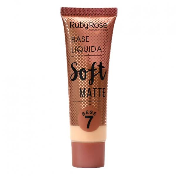 Base Líquida Soft Matte Bege 7 - vol 29 - Ruby Rose