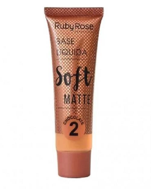 Base Líquida Soft Matte Chocolate 2 - vol 29ml - Ruby Rose