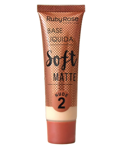 Base Líquida Soft Matte Nude 2- vol 29ml  - Ruby Rose