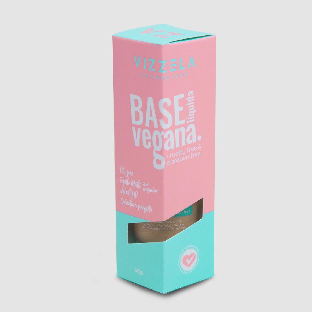 Base Líquida Vegana Cor:09 -30g - Vizzela