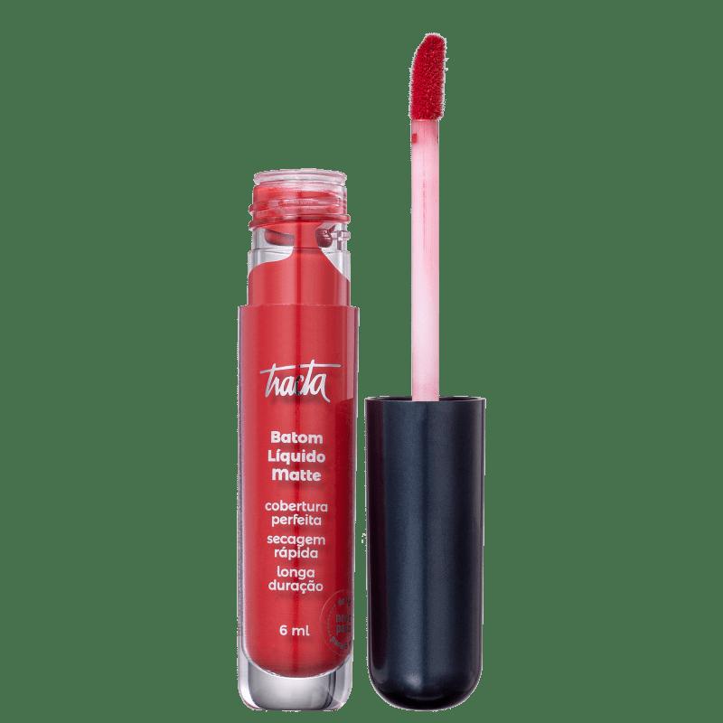 Batom Líquido Matte - Coleção Meu Vermelho - Carmim - 6ml - Tracta