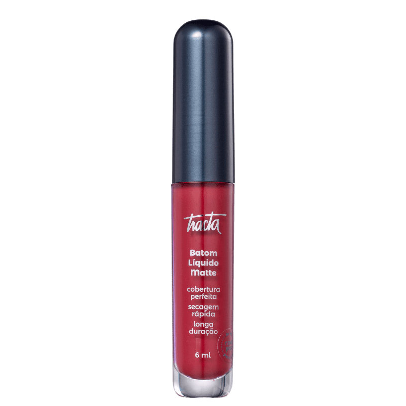 Batom Líquido Matte - Coleção Meu Vermelho - Cereja - 6ml - Tracta