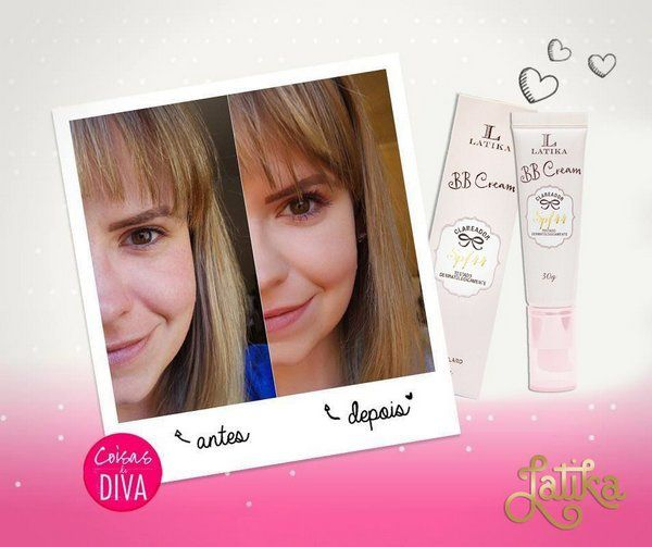BB Cream Clareador FPS 44 Bege Escuro - Latika