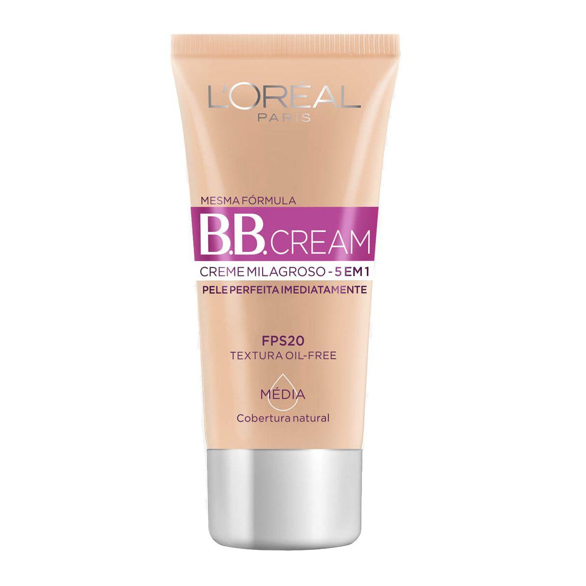 BB Cream FPS20 Média 30ml - L´Oréal Paris