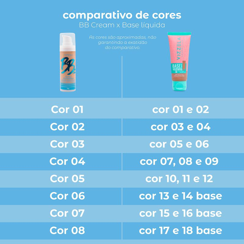 bb cream fps 30 - Cor: 01 -35g - Vizzela