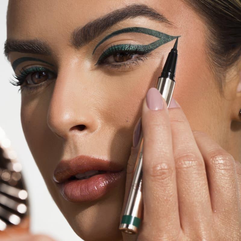 Caneta Delineadora Eyeliner Real Drak Green - Verde Escuro - Mariana Saad - Oceane