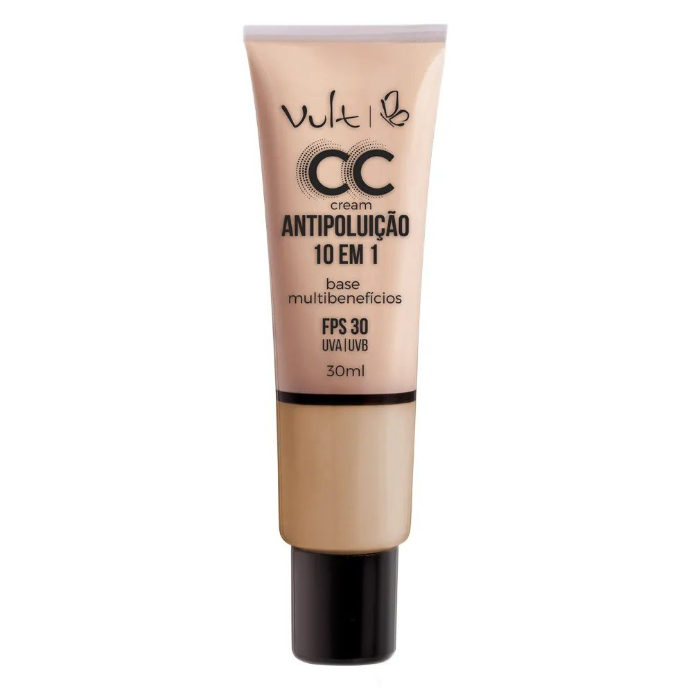 CC Cream Base Antipoluição cor: MB02 - 30ml - Vult
