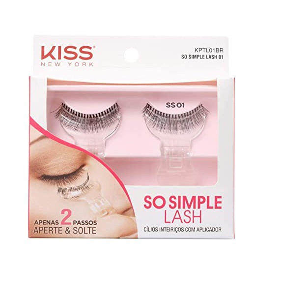 Cílios Com Aplicador So Simple Lash KPTL01BR - Kiss New York