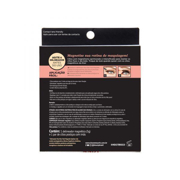 Cílios e Delineador Magnetic Eyeliner - Charm - Kiss New York