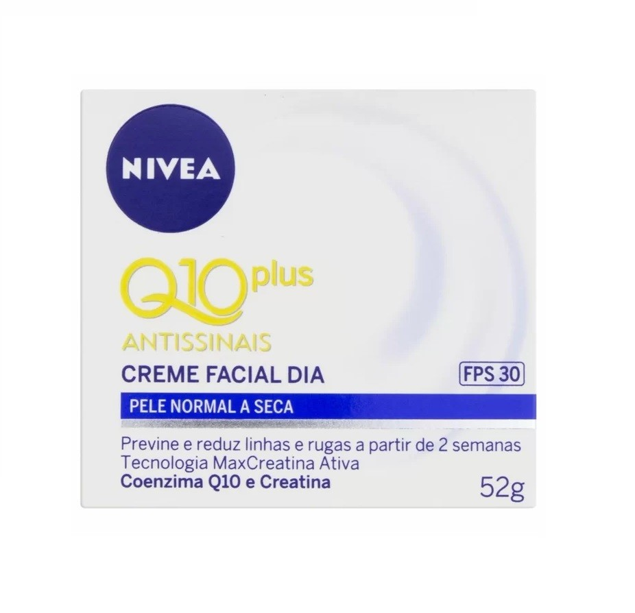 Creme Facial Q10 Antissinais Dia- Pele Normal a Seca Fps 30 - 53g-Nivea