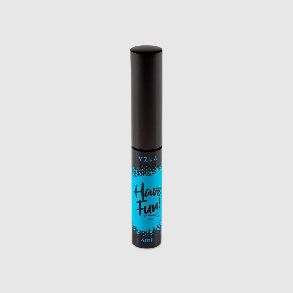 Delineador Colorido Have Fun Azul - 4ml  - Vizzela