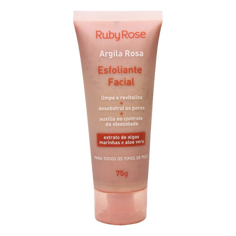 Esfoliante Facial Argila Rosa  - 75g- ruby rose