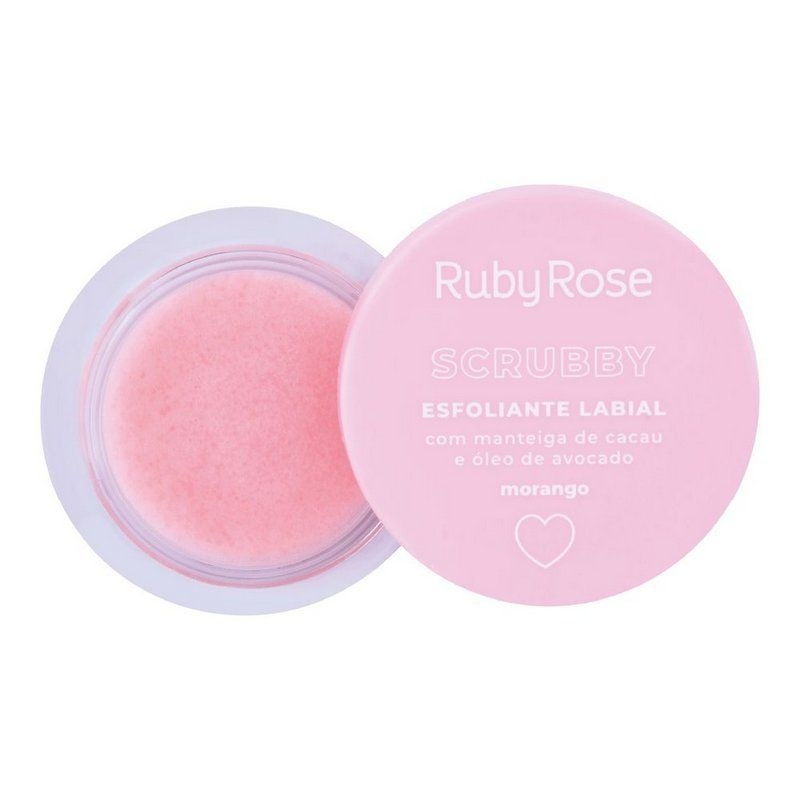 Esfoliante Labial Scrubby Morango - Ruby Rose