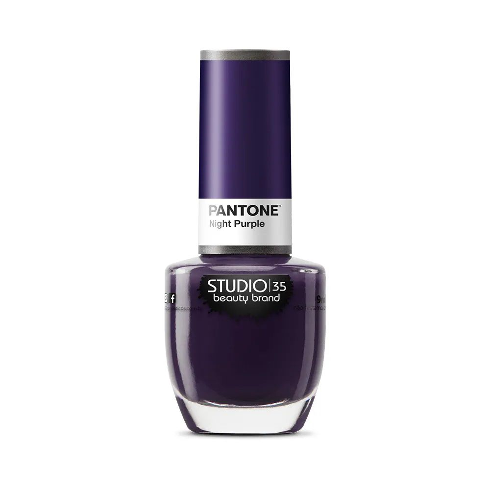 Esmalte Coleção Pantone 2 Cor Nigth Purple - 9ml-Studio 35