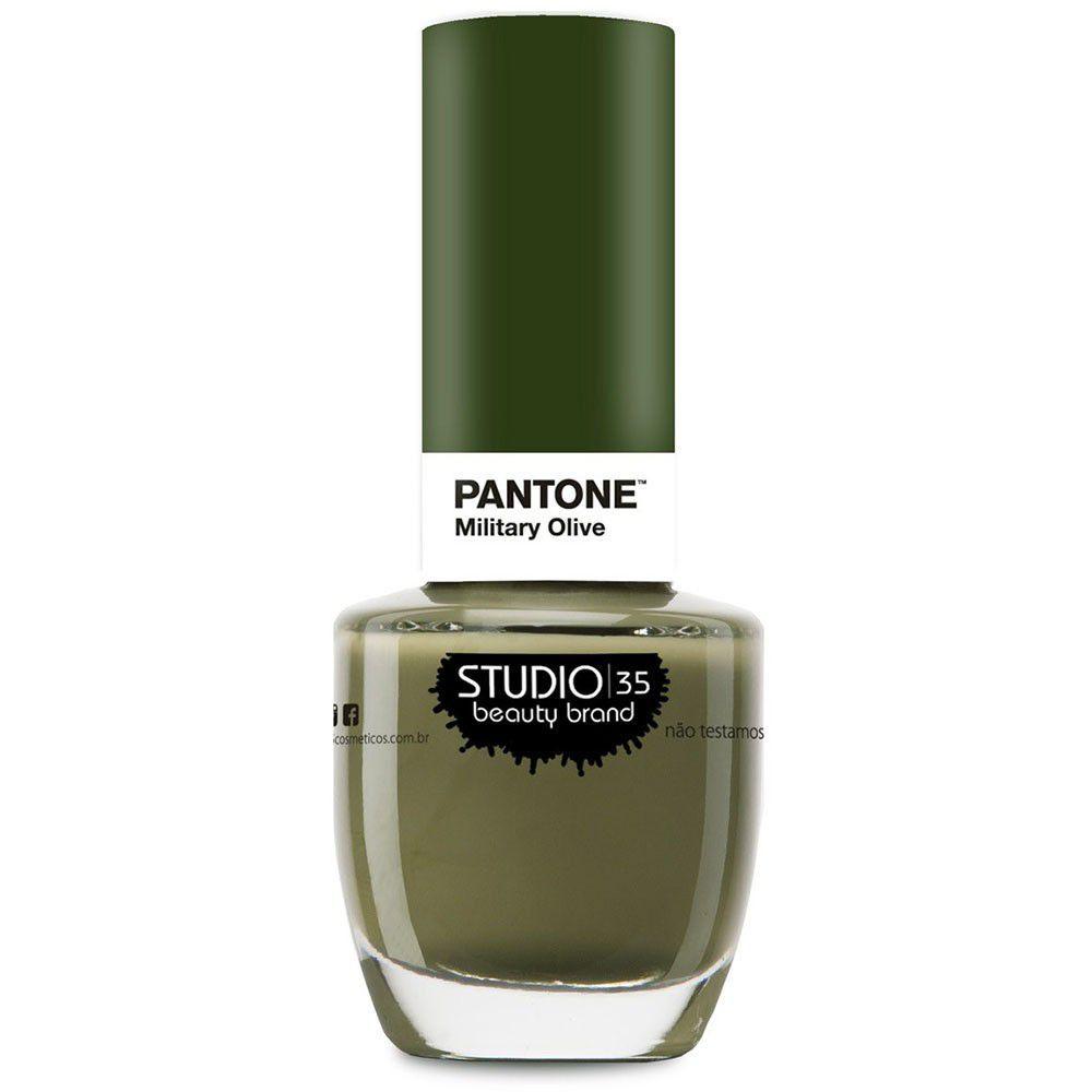 Esmalte Coleção Pantone Cor Military Olive 9ml-Studio 35