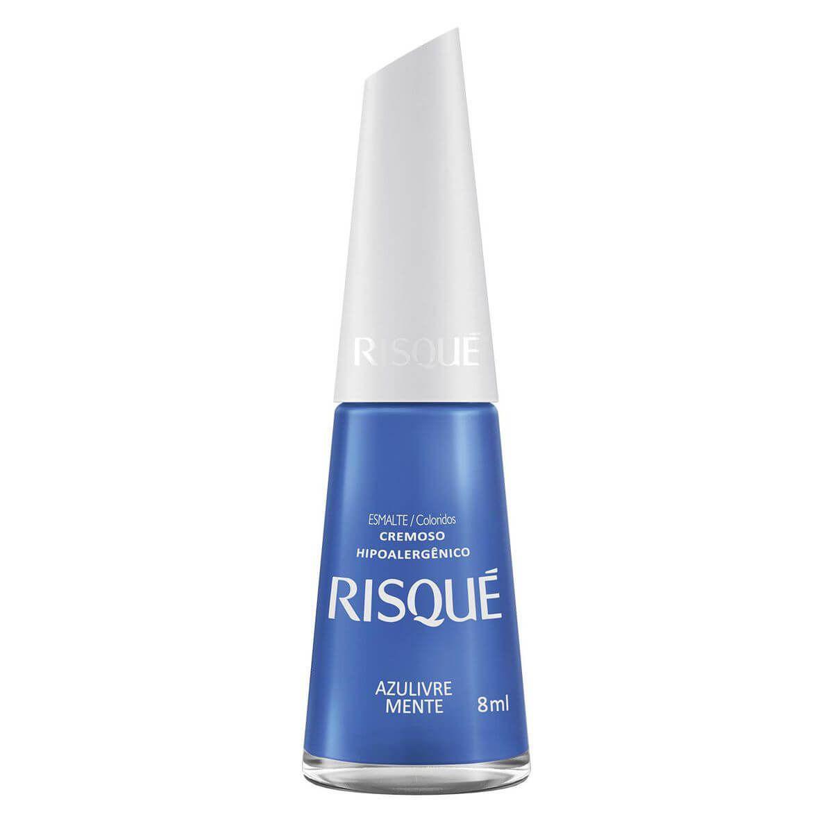 Esmalte Cremoso Azulivre Mente 8ml - Risqué
