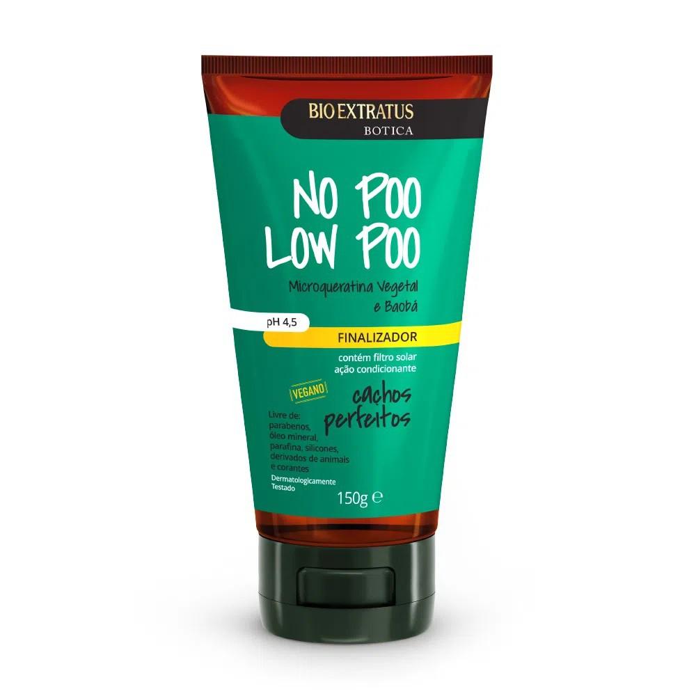 Finalizador Botica No Poo Low Poo Cachos Perfeitos- 150g -Bio Extratus