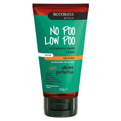 Gelatina Botica No Poo Low Poo Cachos Perfeitos - 150g -Bio Extratus