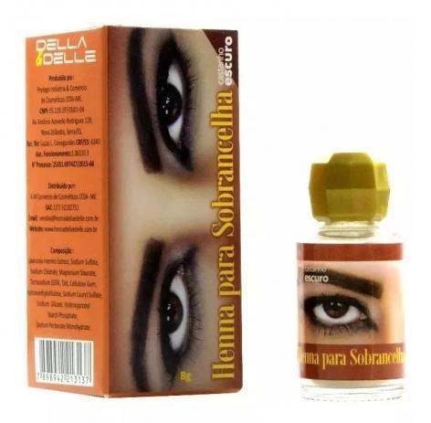 Henna para Sobrancelhas cor Castanho Escuro 8g - Della E Delle